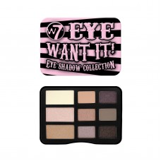 W7 EYE WANT IT - PALETA OČNÝCH TIEŇOV